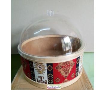 Şeffaf Kapak Çapı 25 cm Mika
