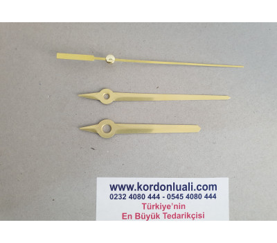 Akrep 7,6 cm Yelkovan 9,6 cm Metal Gold 100 Adet
