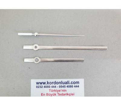 Akrep 9,5 cm Yelkovan 13,5 cm Metal Gümüş