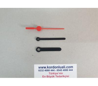 Akrep 5 cm Yelkovan 5.9 cm Plastik Siyah