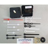 Saat Motoru Askısız Akar Şaft 22 mm Plastik Akrep Yelkovan 100 Ad