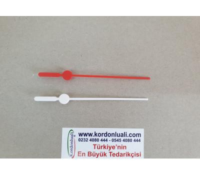Saat Saniyesi 10,5 cm Plastik Kırmızı Veya Beyaz