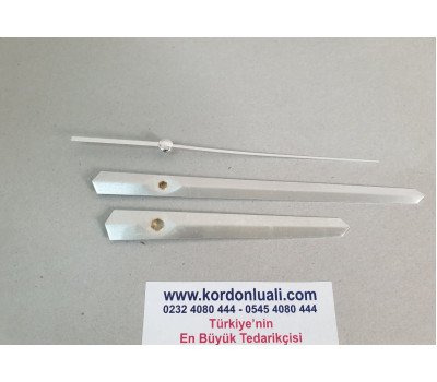 Akrep 11,5 cm Yelkovan 16,5 cm Metal Gümüş 100 Adet