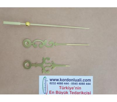 Akrep 6,5 Yelkovan 9,2 cm Metal Desenli Gold 100 Ad